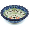 3-inch Stoneware Scalloped Bowl - Polmedia Polish Pottery H6449H
