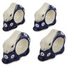3-inch Stoneware Set of 4 Napkin Rings - Polmedia Polish Pottery H3539L