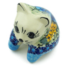 3-inch Stoneware Shelf Sitting Cat Figurine - Polmedia Polish Pottery H0889E