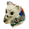3-inch Stoneware Shelf Sitting Cat Figurine - Polmedia Polish Pottery H0890E