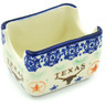3-inch Stoneware Sugar Packet Holder - Polmedia Polish Pottery H8269H