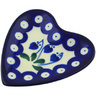 3-inch Stoneware Tea Bag or Lemon Plate - Polmedia Polish Pottery H5284G