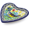 3-inch Stoneware Tea Bag or Lemon Plate - Polmedia Polish Pottery H5459I
