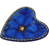 3-inch Stoneware Tea Bag or Lemon Plate - Polmedia Polish Pottery H5462G