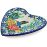3-inch Stoneware Tea Bag or Lemon Plate - Polmedia Polish Pottery H6755J