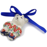 3-inch Stoneware Teddy Bear Ornament - Polmedia Polish Pottery H3122K