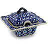 3 oz Stoneware Sugar Bowl - Polmedia Polish Pottery H4324J