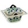 3 oz Stoneware Sugar Bowl - Polmedia Polish Pottery H4466J