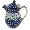 30 oz Stoneware Pitcher with Lid - Polmedia Polish Pottery H9430G