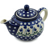30 oz Stoneware Tea or Coffee Pot - Polmedia Polish Pottery H0257B