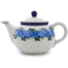30 oz Stoneware Tea or Coffee Pot - Polmedia Polish Pottery H1131J