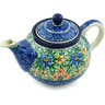 30 oz Stoneware Tea or Coffee Pot - Polmedia Polish Pottery H1334H