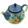 30 oz Stoneware Tea or Coffee Pot - Polmedia Polish Pottery H2151H