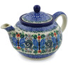 30 oz Stoneware Tea or Coffee Pot - Polmedia Polish Pottery H2203B