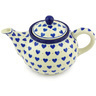 30 oz Stoneware Tea or Coffee Pot - Polmedia Polish Pottery H4068G