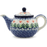 30 oz Stoneware Tea or Coffee Pot - Polmedia Polish Pottery H6613D