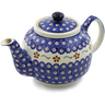 34 oz Stoneware Tea or Coffee Pot - Polmedia Polish Pottery H3299D