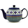 34 oz Stoneware Tea or Coffee Pot - Polmedia Polish Pottery H4145C