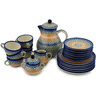 34 oz Stoneware Tea or Coffee Set for Six - Polmedia Polish Pottery H8807C