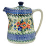 37 oz Stoneware Tea or Coffee Pot - Polmedia Polish Pottery H1534L