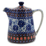 37 oz Stoneware Tea or Coffee Pot - Polmedia Polish Pottery H7519K