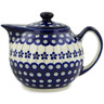 39 oz Stoneware Tea or Coffee Pot - Polmedia Polish Pottery H5674I