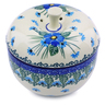 4-inch Stoneware Apple Shaped Jar - Polmedia Polish Pottery H0874I