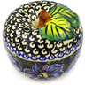 4-inch Stoneware Apple Shaped Jar - Polmedia Polish Pottery H0968E