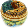 4-inch Stoneware Apple Shaped Jar - Polmedia Polish Pottery H0970E