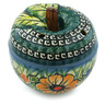4-inch Stoneware Apple Shaped Jar - Polmedia Polish Pottery H0972E
