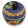 4-inch Stoneware Apple Shaped Jar - Polmedia Polish Pottery H1301F