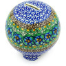 4-inch Stoneware Ball Piggy Bank - Polmedia Polish Pottery H5690G