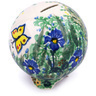 4-inch Stoneware Ball Piggy Bank - Polmedia Polish Pottery H6204G