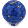 4-inch Stoneware Ball Piggy Bank - Polmedia Polish Pottery H6606G