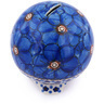 4-inch Stoneware Ball Piggy Bank - Polmedia Polish Pottery H9320G