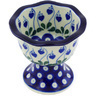4-inch Stoneware Bowl with Pedestal - Polmedia Polish Pottery H0598G