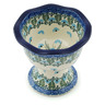 4-inch Stoneware Bowl with Pedestal - Polmedia Polish Pottery H0835I