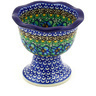4-inch Stoneware Bowl with Pedestal - Polmedia Polish Pottery H4437E
