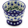 4-inch Stoneware Bowl with Pedestal - Polmedia Polish Pottery H6533G