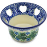 4-inch Stoneware Candle Holder - Polmedia Polish Pottery H1652K