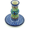 4-inch Stoneware Candle Holder - Polmedia Polish Pottery H5198H