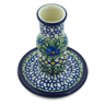 4-inch Stoneware Candle Holder - Polmedia Polish Pottery H7716I