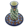 4-inch Stoneware Candle Holder - Polmedia Polish Pottery H8291A
