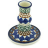 4-inch Stoneware Candle Holder - Polmedia Polish Pottery H8483F