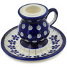 4-inch Stoneware Candle Holder - Polmedia Polish Pottery H9159B