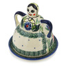 4-inch Stoneware Cheese Lady - Polmedia Polish Pottery H6094I