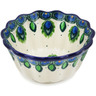 4-inch Stoneware Fluted Bowl - Polmedia Polish Pottery H1795L