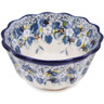 4-inch Stoneware Fluted Bowl - Polmedia Polish Pottery H1796L