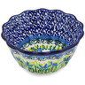 4-inch Stoneware Fluted Bowl - Polmedia Polish Pottery H3330L