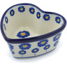 4-inch Stoneware Heart Shaped Bowl - Polmedia Polish Pottery H0373J
